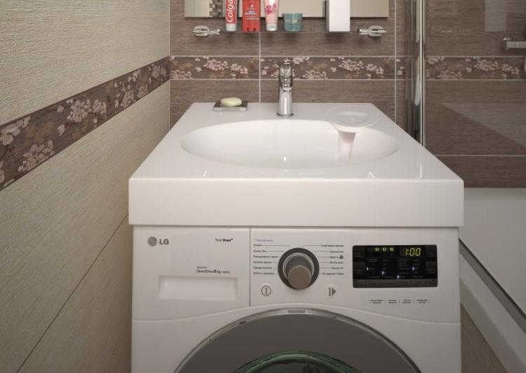 Крепление раковины - Раковина над стиральной машиной