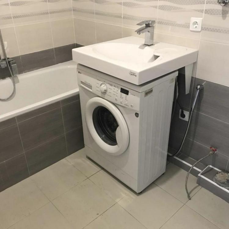 Как установить стиральную машину - Раковина над стиральной машиной