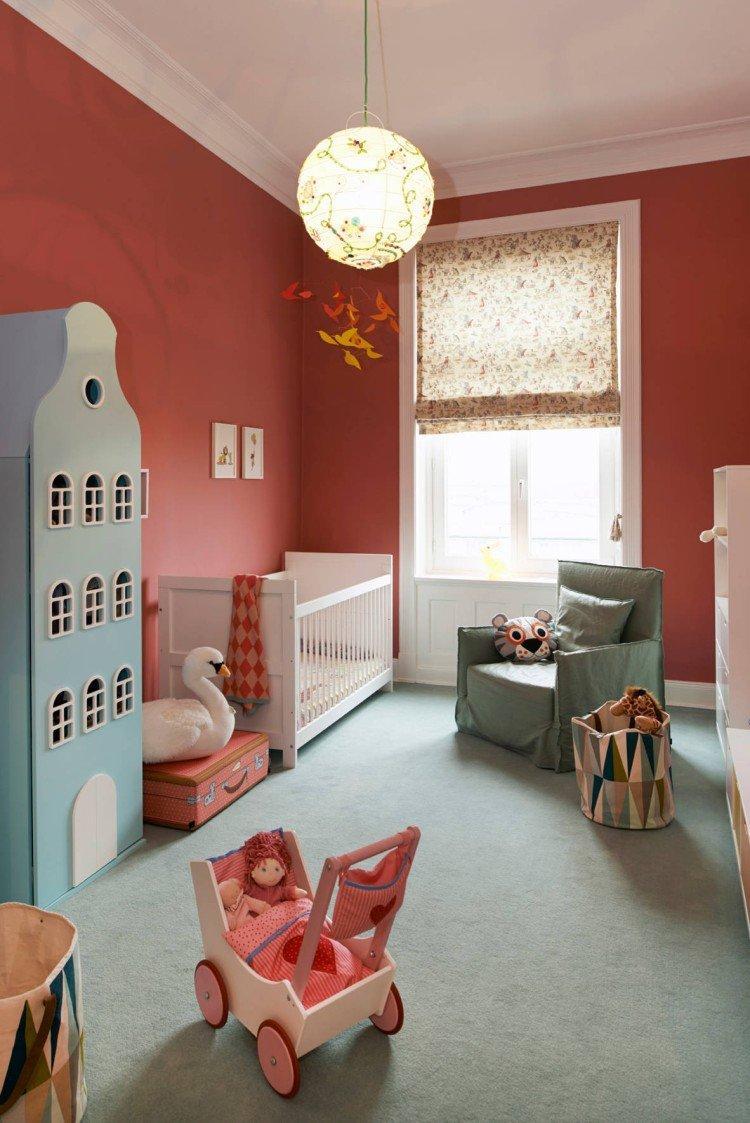 Римские шторы в детской комнате - дизайн интерьера фото