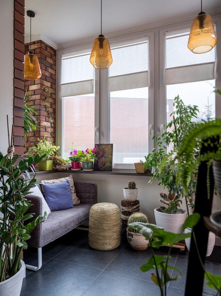 Римские шторы на балконе или лоджии - дизайн интерьера фото