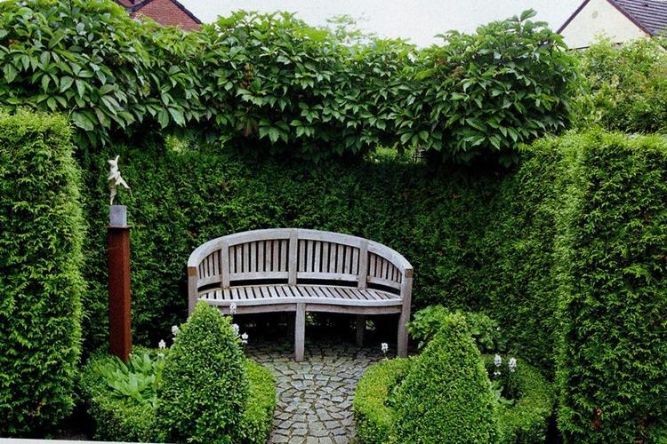 Живые садовые беседки