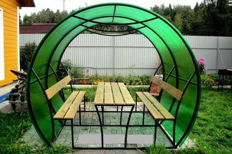Альтернативные материалы - Садовые беседки
