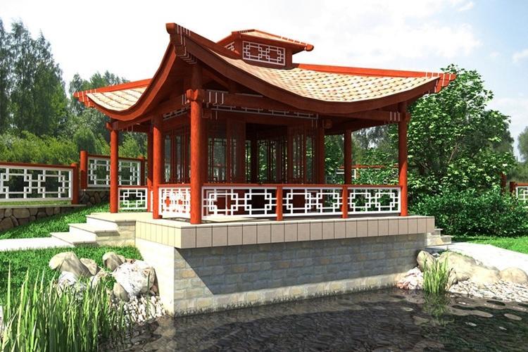 Беседки в японском стиле - Садовые беседки