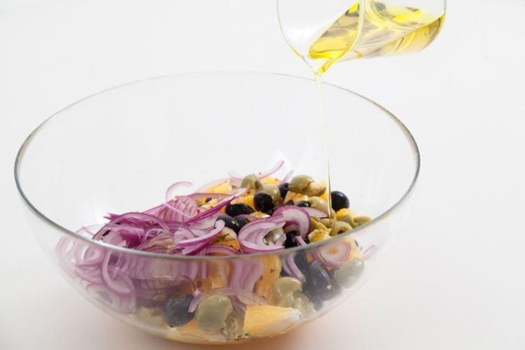 Салат из апельсинов с маслинами - Салаты без майонеза рецепты