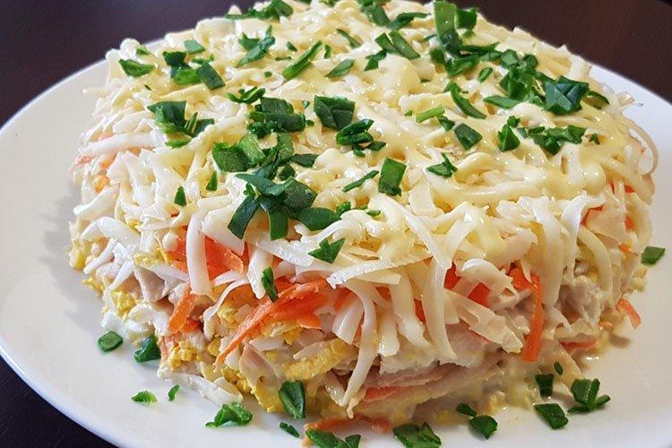 Салат Праздничный - Салаты на день рождения рецепты