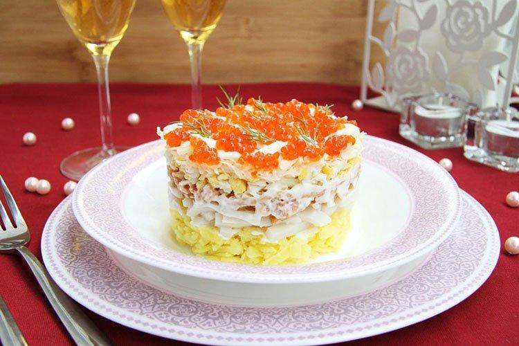 Салат Радуга на день рождения - рецепты
