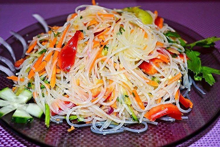 Праздничный салат Китайский на день рождения - рецепты