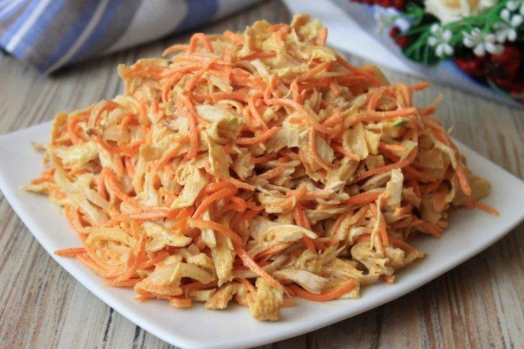 Салат с корейской морковью и картофелем - рецепты