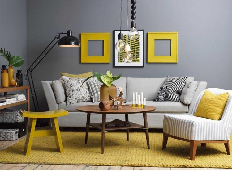 Серый с желтым - Сочетание цветов в интерьере