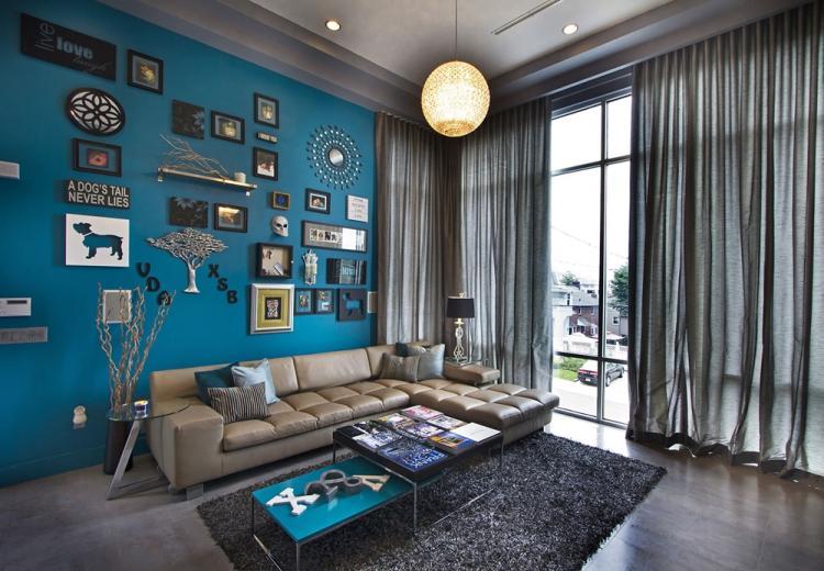Серый с синим - Сочетание цветов в интерьере