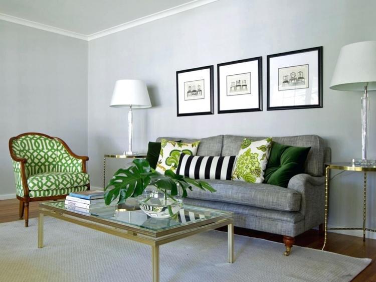 Серый с зеленым - Сочетание цветов в интерьере