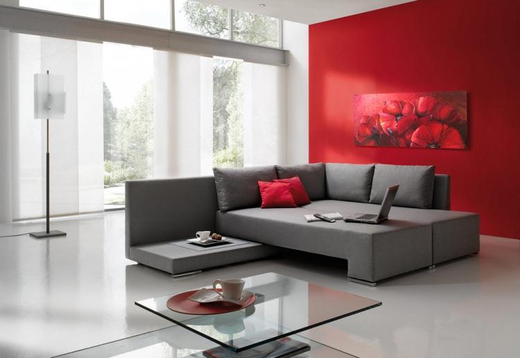 Серый с красным - Сочетание цветов в интерьере