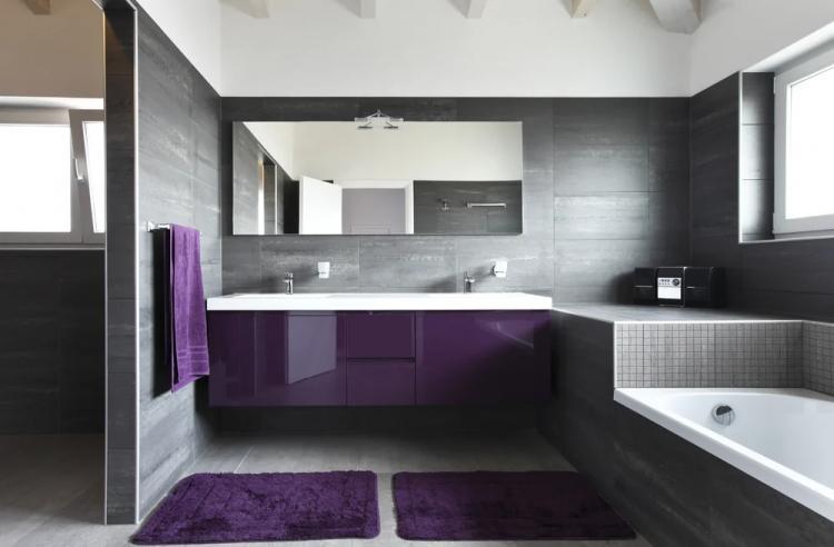 Серый с фиолетовым - Сочетание цветов в интерьере