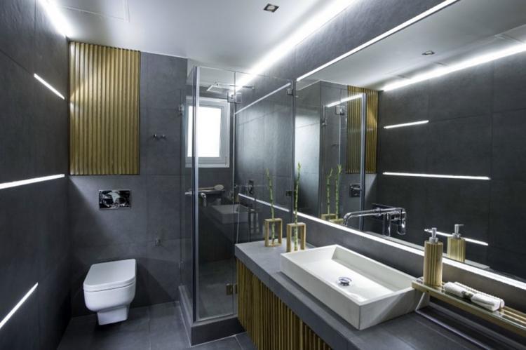 Серый цвет в интерьере ванной комнаты