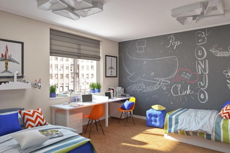 Серый цвет в интерьере детской комнаты
