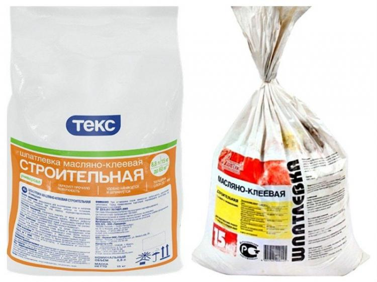 Клей, масло и латекс - Шпаклевка или шпатлевка