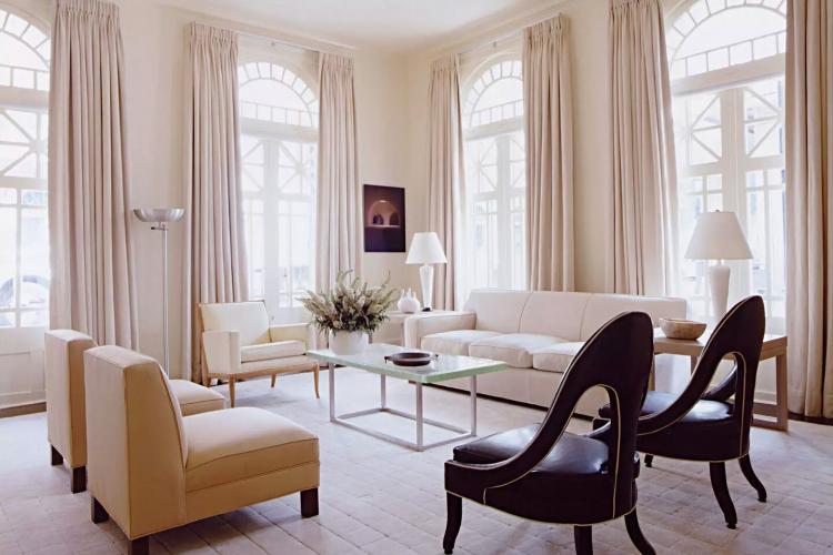Классические шторы - Виды штор для гостиной