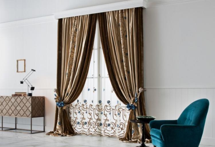 Итальянские шторы - Виды штор для гостиной