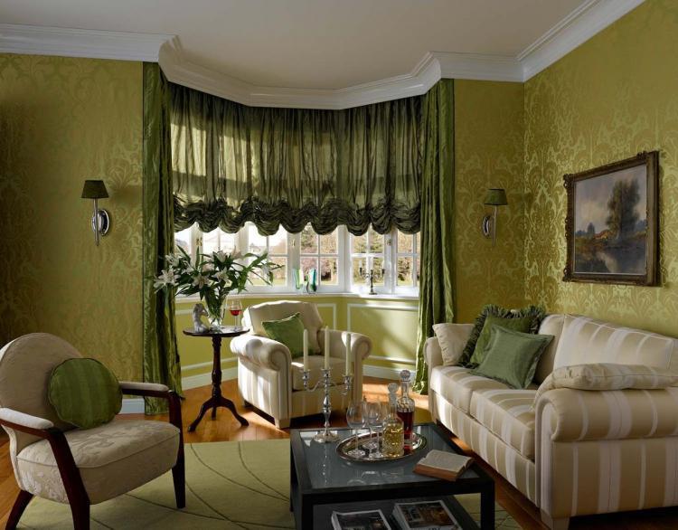 Австрийские шторы - Виды штор для гостиной
