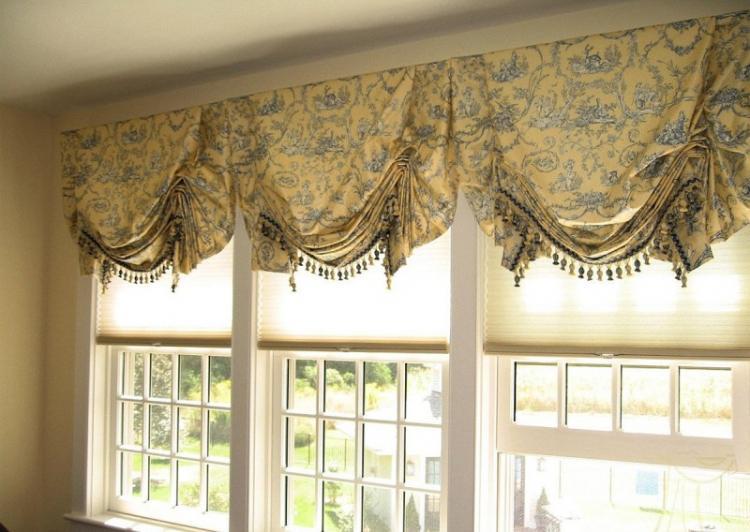 Английские шторы - Виды штор для гостиной