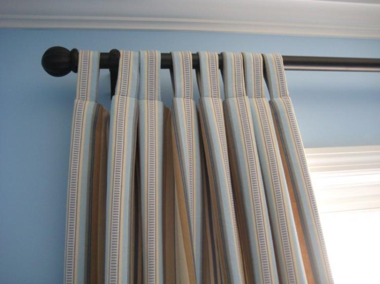 Петли - Способы крепления штор для гостиной