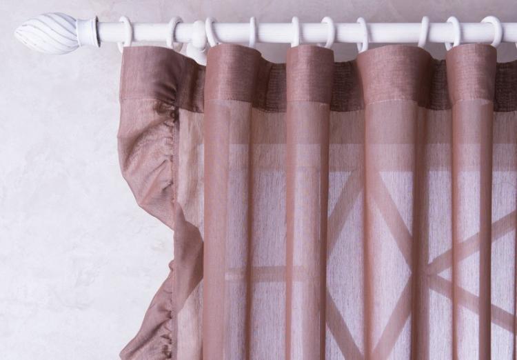 Кольца и зажимы - Способы крепления штор для гостиной