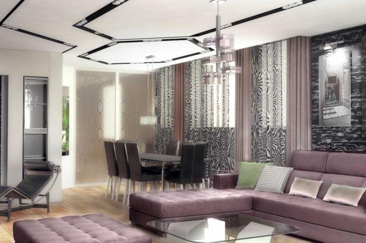 Прагматичный минимализм - Шторы для гостиной в разных стилях интерьеров