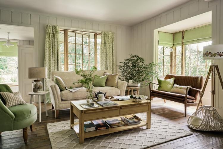 Уютные эко-тренды - Шторы для гостиной в разных стилях интерьеров