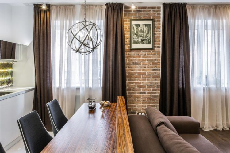 Художественная индустриализация - Шторы для гостиной в разных стилях интерьеров