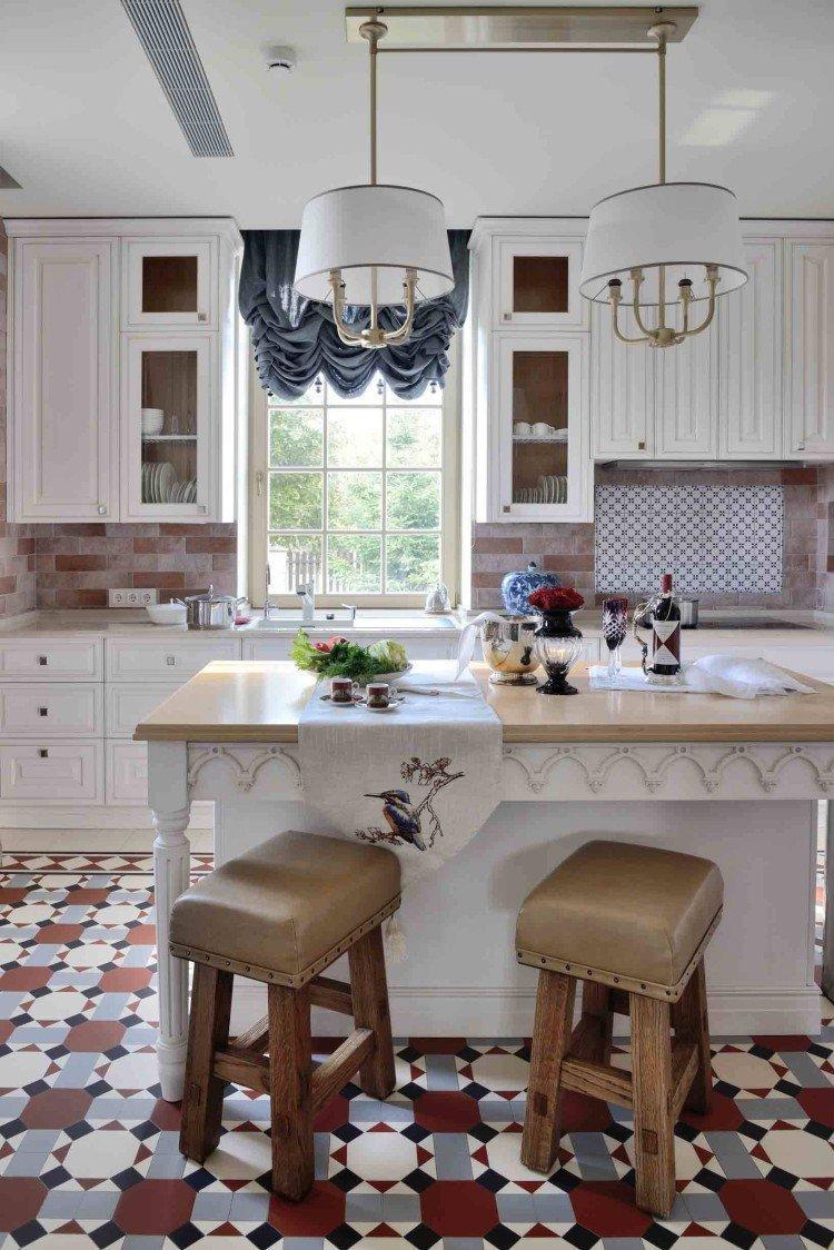 Французские шторы - Виды штор для кухни