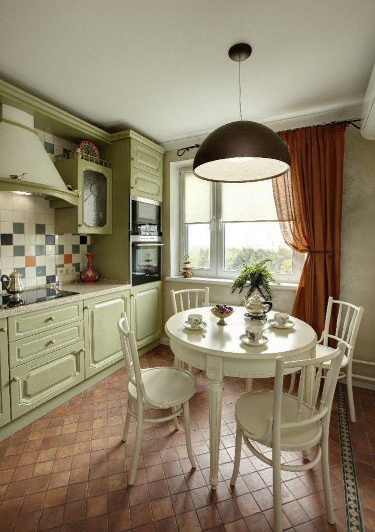 Классические шторы - Виды штор для кухни