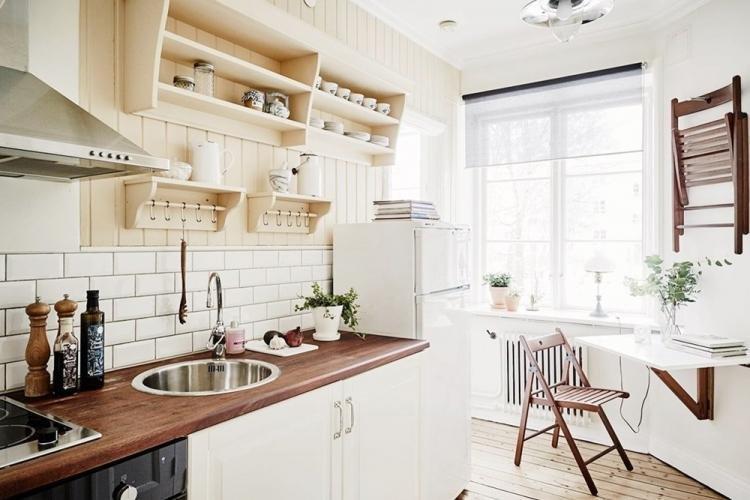 Шторы для кухни в скандинавском стиле