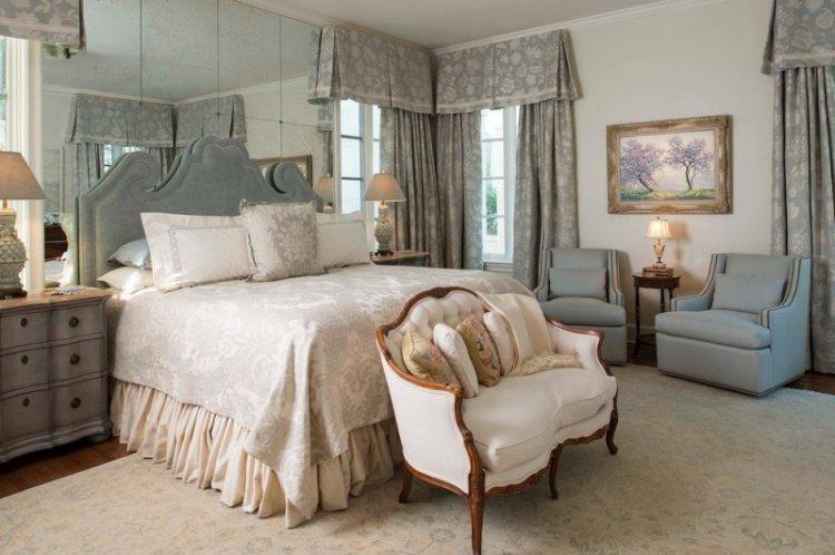 Французские шторы - Виды штор для спальни