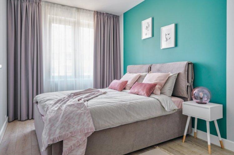 Шторы для спальни в скандинавском стиле