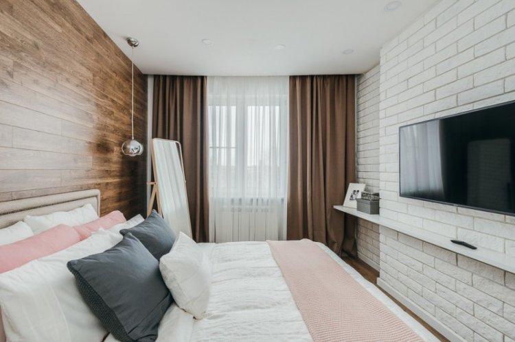 Шторы для спальни в стиле лофт