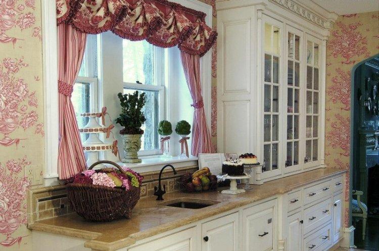 Французские шторы в стиле прованс