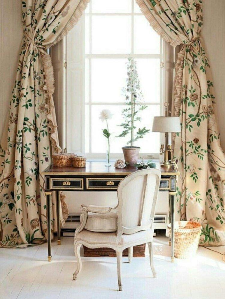 Итальянские шторы в стиле прованс
