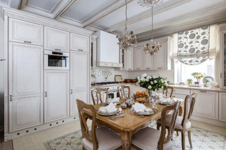 Шторы в стиле прованс на кухне - дизайн фото