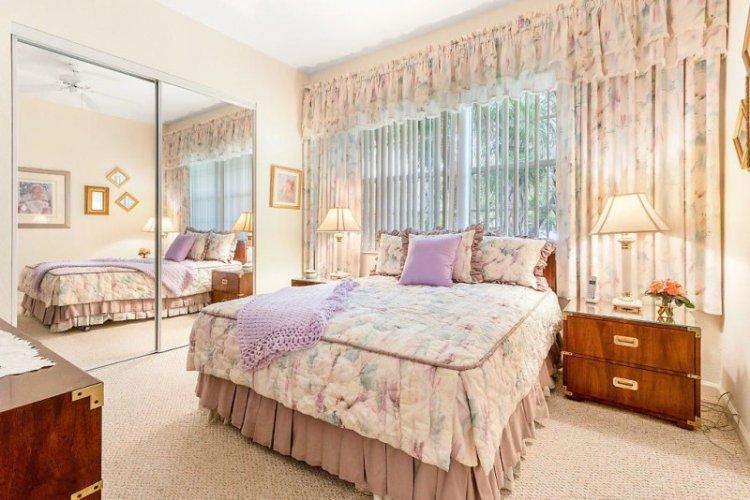 Шторы в стиле прованс в спальне - дизайн фото
