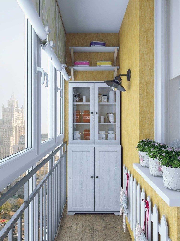 Шторы в стиле прованс на балконе или лоджии - дизайн фото
