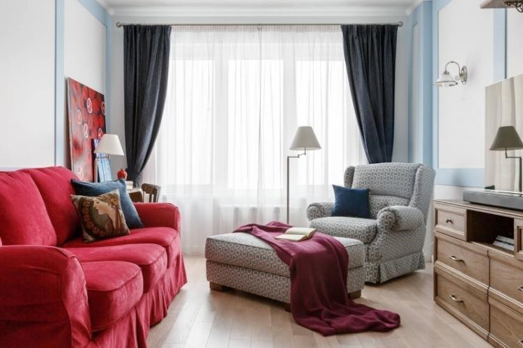 Синий с красным - Сочетание цветов в интерьере