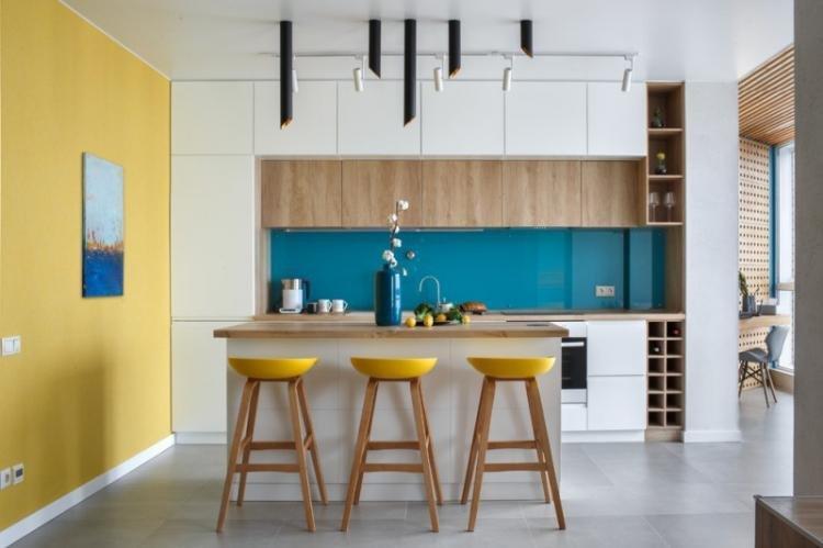 Синий с желтым - Сочетание цветов в интерьере