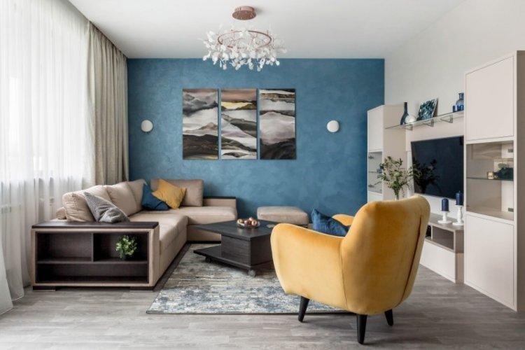 Современный стиль - Синий цвет в интерьере