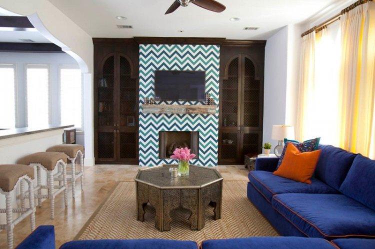 Марокканский стиль - Синий цвет в интерьере