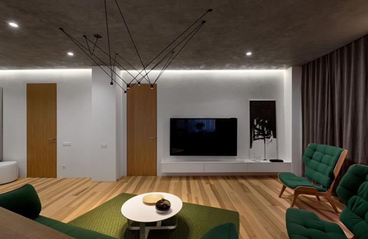 Skyline: Квартира в стиле минимализм - дизайн интерьера