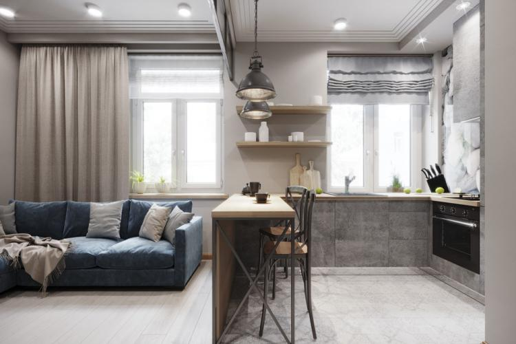 Soft Loft: Квартира 27 кв.м. - дизайн интерьера