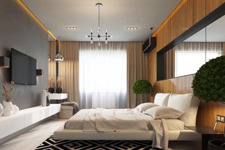 Спальня «Линии стиля» - дизайн интерьера
