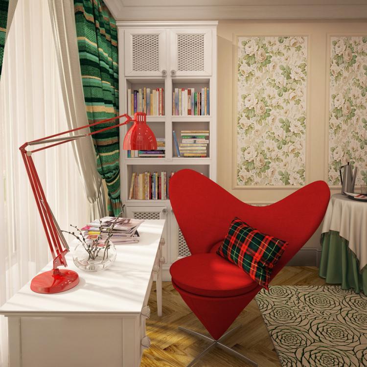 Дизайн спальни «Шотландская роза»