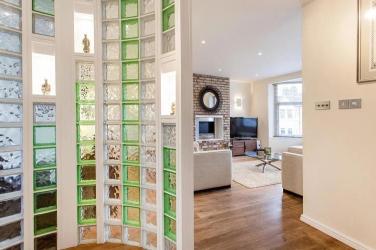 Стеклоблоки - Виды стеклянных перегородок в квартире