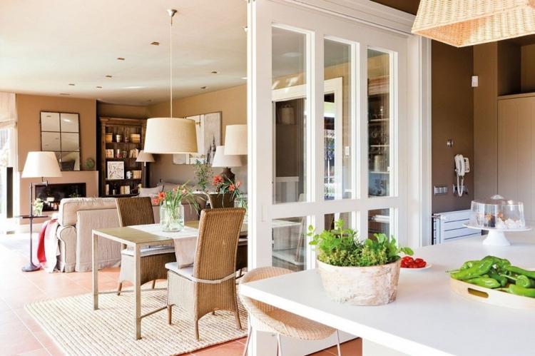 Стеклянные перегородки в кухне - Дизайн интерьера